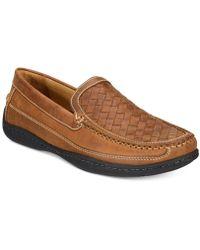Johnston & Murphy Men's Fowler Woven Venetian Loafers