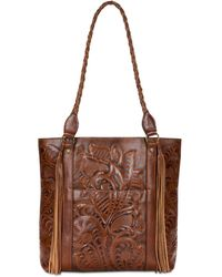 Patricia Nash - Burnished Tooled Rena Tote - Lyst