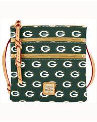 Dooney & Bourke - Green Bay Packers Triple-zip Crossbody Bag - Lyst