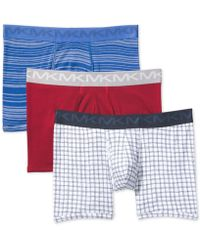 Michael Kors - 3-pk. Performance Cotton Boxer Briefs - Lyst