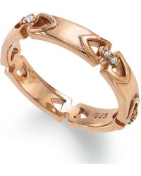 Proposition Love - 14k Rose Gold Over Silver Diamond Accent Ring - Lyst