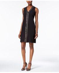 Donna Ricco - Embellished Sheath Dress - Lyst