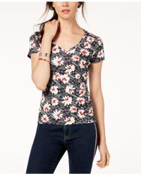 Tommy Hilfiger - Cotton Printed T-shirt, Created For Macy's - Lyst