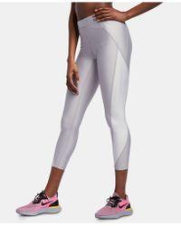 Nike - Speed Power Colorblocked Metallic Ankle Running Leggings - Lyst