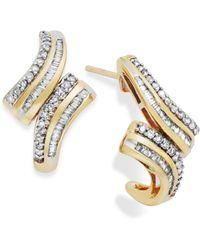 Wrapped in Love | Diamond Twist Hoop Earrings In 10k Gold (1/2 Ct. T.w.) | Lyst
