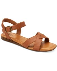 Style & Co. Antonia Flat Sandals, Created For Macy's - Brown