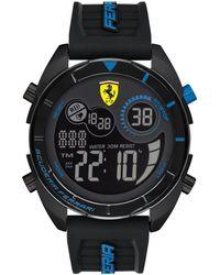 Ferrari - Forza Analong-digital Black Silicone Strap Watch 45mm - Lyst