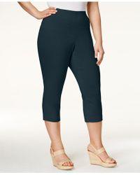 4fd243ffb12 Lyst - Alfani Plus Size Pull-on Capri Pants in Yellow
