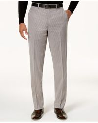 Sean John - Men's Classic-fit Stretch Gray Pinstripe Suit Pants - Lyst