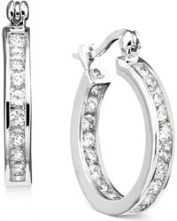 Giani Bernini - Sterling Silver Cubic Zirconia Hoop Earrings (2-1/3 Ct. T.w.) - Lyst