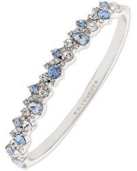 Givenchy Silver-tone Crystal Cluster Bangle Bracelet - Blue