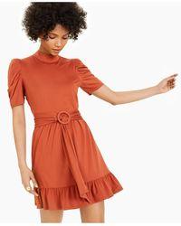 LEYDEN Belted Mini Dress - Orange