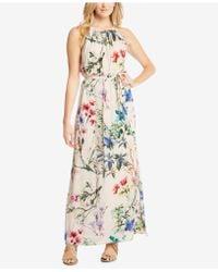 Karen Kane - Floral-print Halter Maxi Dress - Lyst