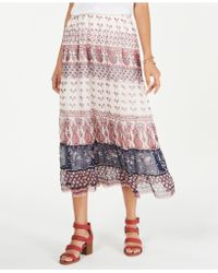 Style & Co. - Tiered Mixed-print Midi Skirt, Created For Macy's - Lyst