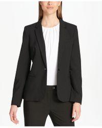 Calvin Klein One-button Blazer - Black