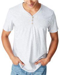 Cotton On Henley T-shirt - White