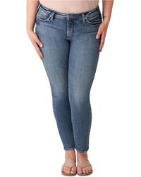 Silver Jeans Co. Plus Size Most Wanted Skinny Jeans - Blue