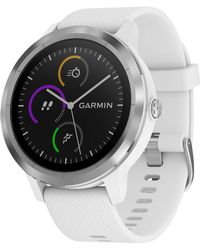 Garmin - Unisex Vívoactive® 3 White Silicone Strap Smart Watch 43mm - Lyst