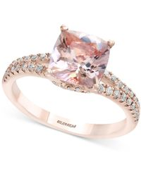 Effy Collection - Morganite (1-5/8 Ct. T.w.) & Diamond (1/4 Ct. T.w.) Ring In 18k Rose Gold - Lyst