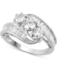 Macy's Diamond Bypass Ring In 14k Gold (1-1/2 Ct. T.w.) - Multicolour