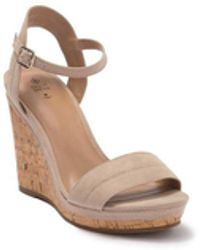 Call It Spring Acaviel Wedge Sandals - Natural