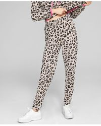 Charter Club Cashmere Animal-print Knit Jogger Pants, Created For Macy's - Multicolour