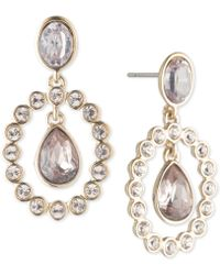 Givenchy - Gold-tone Crystal & Stone Orbital Drop Earrings - Lyst