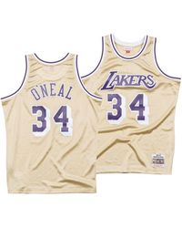 d44ff0188ebc5 Mitchell   Ness - Shaquille O neal Los Angeles Lakers Gold Collection  Swingman Jersey -