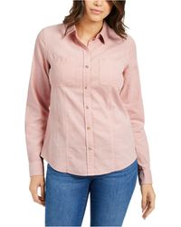 Charter Club Solid Corduroy Shirt, Created For Macy's - Pink