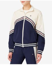 Fila Ornelia Striped Track Jacket - Blue