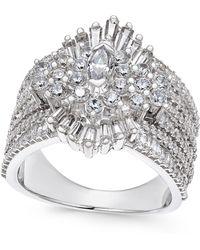 Macy's - Diamond Cluster Ring (2-3/4 Ct. T.w.) In 14k White Gold - Lyst