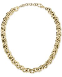 "Calvin Klein Statement 18 1/2"" Chain Necklace In Gold-tone Pvd Stainless Steel - Metallic"