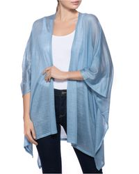 INC International Concepts Knit Ruana, Created For Macy's - Blue