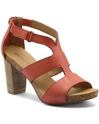 Adrienne Vittadini Saha City Sandals - Brown