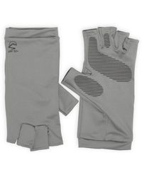 Sunday Afternoons Uv Shield Cool Fingerless Gloves - Gray