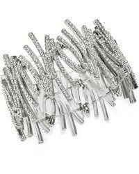 INC International Concepts Inc Crystal Zig-zag Stretch Bracelet, Created For Macy's - Metallic