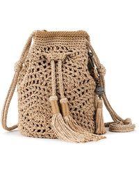 The Sak Sayulita Crochet Drawstring - Metallic