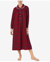 Lanz of Salzburg - Printed Cotton Flannel Nightgown - Lyst