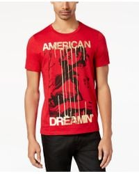 Guess - Men's American Dreamin' Metallic-print T-shirt - Lyst