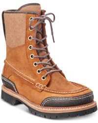 Woolrich Squatch Waterproof Leather Boots - Brown