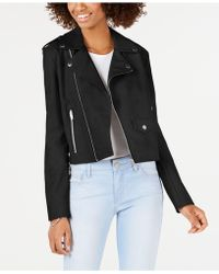 7eb5f9b7d Juniors' Faux-leather Moto Jacket - Black
