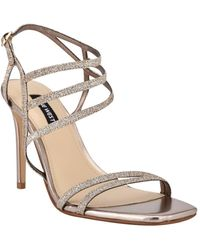 Nine West Zana Strappy Evening Stiletto Dress Sandals - Metallic