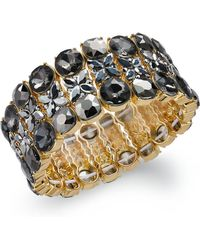 INC International Concepts - I.n.c. Gold-tone Crystal Stretch Bracelet, Created For Macy's - Lyst