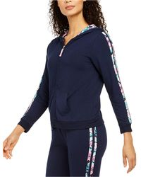 Vera Bradley Go Faster French Terry Lounge Hoodie, Online Only - Blue