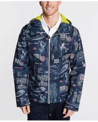 e8570b584d Nautica - Blue Sail Graphic Full-zip Hooded Jacket, Created For Macy's -  Lyst