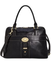 Giani Bernini - Turn-lock Glazed Dome Satchel, Created For Macy's - Lyst