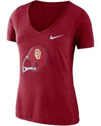 Nike - College Tri-blend Mid-v Vault Logo (oklahoma) T-shirt - Lyst
