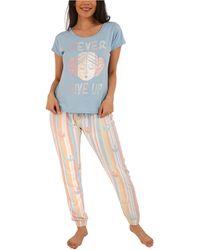 Munki Munki Star Wars Rebel Pajama Set - Blue
