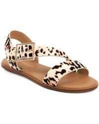 Aerosoles Lewis Strappy Flat Sandals - Brown