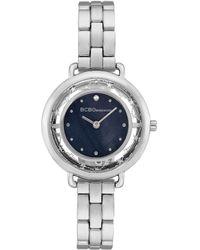 BCBGeneration 2 Hands Slim Silver-tone Stainless Steel Band Watch 34mm - Metallic
